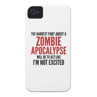 The Hardest Part About A Zombie Apocalypse iPhone 4 Cover