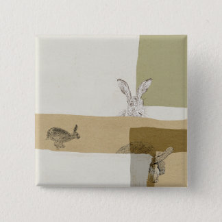 The Hare and the Tortoise An Aesop's Fable 15 Cm Square Badge
