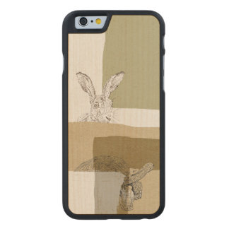 The Hare and the Tortoise An Aesop's Fable Carved Maple iPhone 6 Case