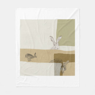 The Hare and the Tortoise An Aesop's Fable Fleece Blanket