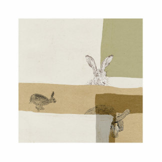 The Hare and the Tortoise An Aesop's Fable Photo Sculpture Badge