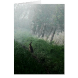 """""""The Hare I Saw in My Dream""""  Blank Card"""