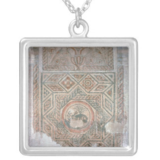 The Hare mosaic, 350 AD Silver Plated Necklace