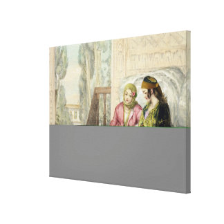 The Harem, plate 1 from 'Illustrations of Constant Canvas Print