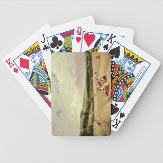 The Harvest Field (oil on canvas) Bicycle Playing Cards