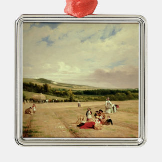 The Harvest Field (oil on canvas) Christmas Ornament