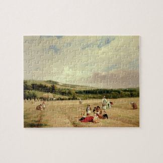 The Harvest Field (oil on canvas) Jigsaw Puzzle