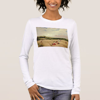 The Harvest Field (oil on canvas) Long Sleeve T-Shirt