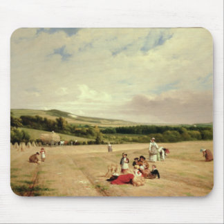 The Harvest Field (oil on canvas) Mouse Mat