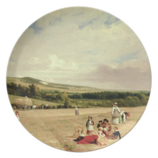 The Harvest Field (oil on canvas) Plate