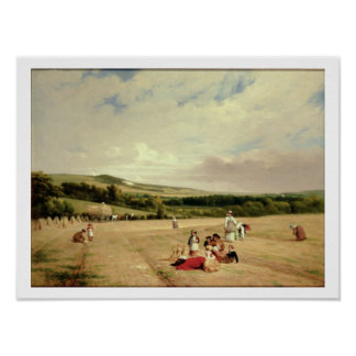 The Harvest Field (oil on canvas) Poster