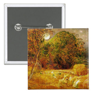 The Harvest Moon, 1833 (oil on paper laid on panel 15 Cm Square Badge