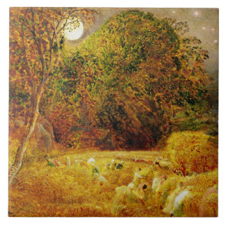 The Harvest Moon, 1833 (oil on paper laid on panel Large Square Tile