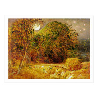 The Harvest Moon, 1833 (oil on paper laid on panel Postcard