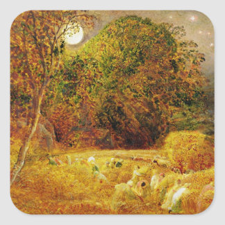 The Harvest Moon, 1833 (oil on paper laid on panel Square Sticker