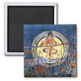 The Harvest Moon - Charles Rennie Mackintosh Square Magnet