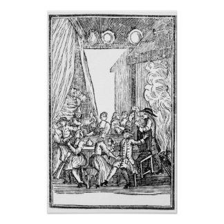The Harvest Supper, from the Roxburghe Ballads Poster