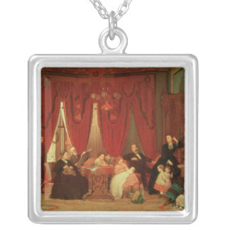The Hatch Family, 1870-71 Silver Plated Necklace