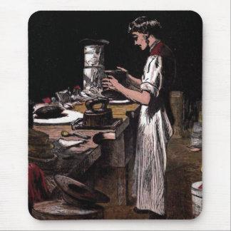 """""""The Hatmaker"""" Vintage Illustration Mouse Pad"""