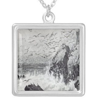 The Haunt of the Gulls Silver Plated Necklace