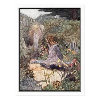 The Haunted Garden by Charles Robinson Postcard