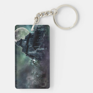 The Haunted House Ghosts Double-Sided Rectangular Acrylic Key Ring