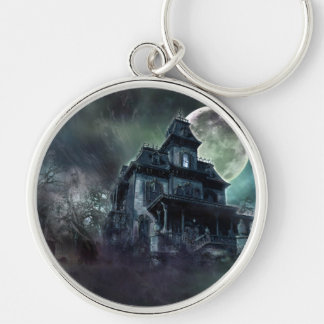 The Haunted House Paranormal Silver-Colored Round Key Ring