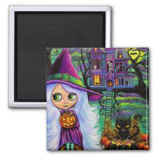 The Haunted Treehouse Square Magnet