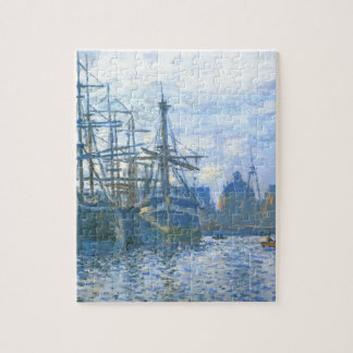 The Havre, the trade bassin by Claude Monet Jigsaw Puzzle