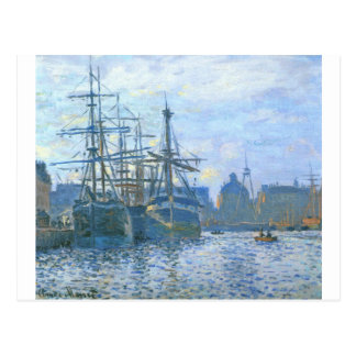 The Havre, the trade bassin by Claude Monet Postcard