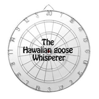 the hawaiian goose whisperer dartboard with darts