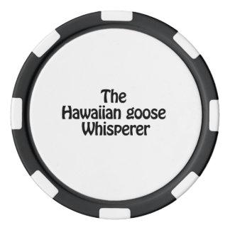 the hawaiian goose whisperer poker chips set