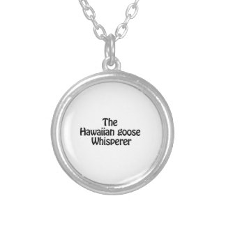 the hawaiian goose whisperer round pendant necklace