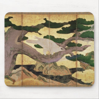 The Hawks in the Pines, 6 panel folding screen Mouse Pad