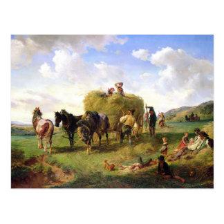The Hay Harvest, 1869 Postcard