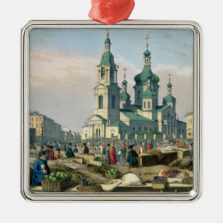The Hay Square in St. Petersburg, c.1840 Christmas Ornament