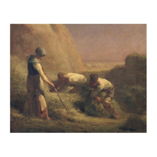 The Hay Trussers, 1850-51 Wood Print
