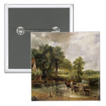 The Hay Wain, 1821 15 Cm Square Badge