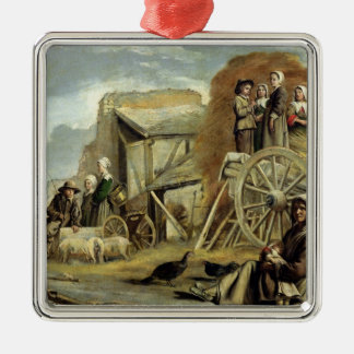 The Haycart, or Return from Haymaking, 1641 Christmas Ornament