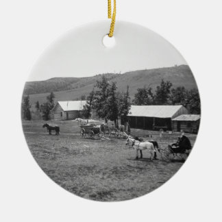 The Haylie Ranch, Crook County, Wyoming, c.1890 (b Christmas Ornament