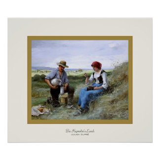 The Haymaker's Lunch ~ Julien Dupré ~ Fine Art Poster