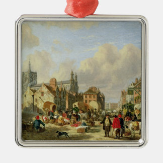 The Haymarket, Norwich, 1825 (oil on panel) Christmas Ornament