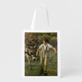 The Haywain, c.1889 (oil on canvas) Reusable Grocery Bag