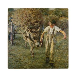 The Haywain, c.1889 (oil on canvas) Wood Coaster