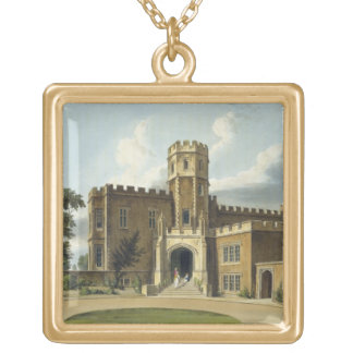 The Head Master's House, Rugby School, from 'Histo Gold Plated Necklace