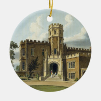 The Head Master's House, Rugby School, from 'Histo Round Ceramic Decoration