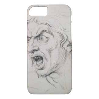 The head of a man screaming in terror, a study for iPhone 8/7 case