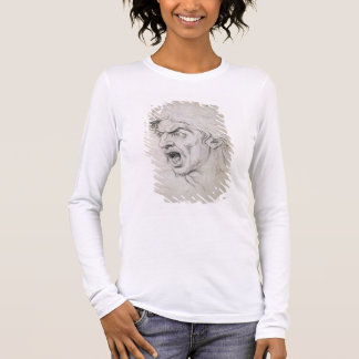 The head of a man screaming in terror, a study for long sleeve T-Shirt