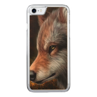 The head of a wolf painting. carved iPhone 8/7 case