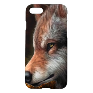 The head of a wolf painting. iPhone 7 case